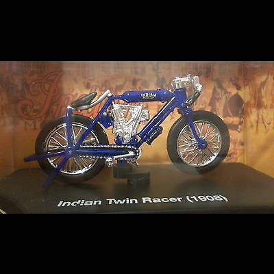 Indian Twin Racer 1908 blau scale 1:32 diecast model