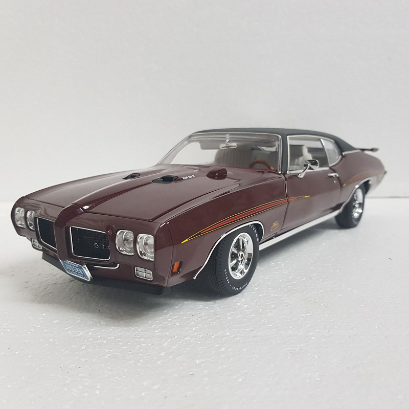 Acme 1 18 Scale 1970 Pontiac Gto Judge In Burgundy With Black Vinyl Top Diecast Model Replica A1801203vt Sabe S Hobby House Part 1